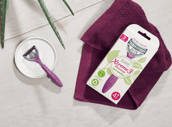 Environmental labelling for razors by Wilkinson