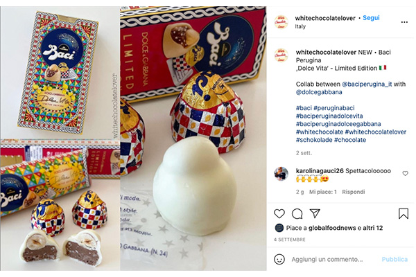 Dolce and Gabbana for Perugina praline and packaging