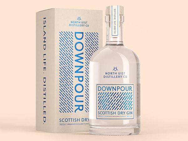 Downpour gin luxury packaging sample