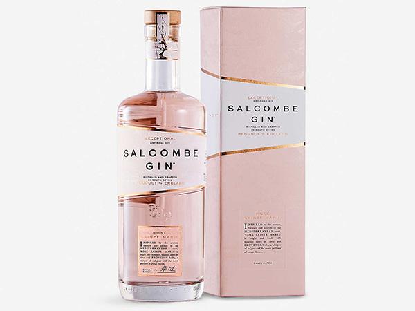 Scatola astuccio con nobilitazione in oro per gin Salcombe