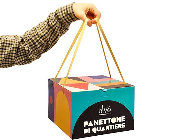 Scatola a valigetta di design per panettone