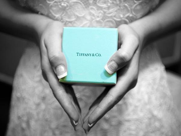 A close-up on the Tiffany logo