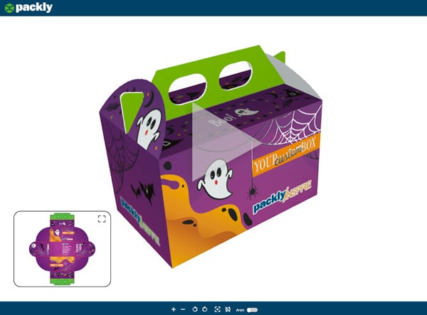 3D preview of the Halloween box