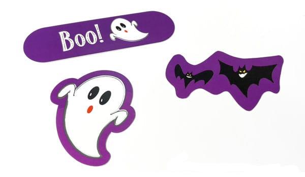 Custom cutout details of the Halloween box