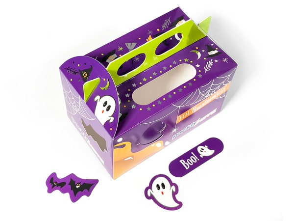 Halloween box as seen from above