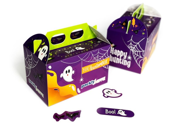 Packaging for Halloween: top box with handle